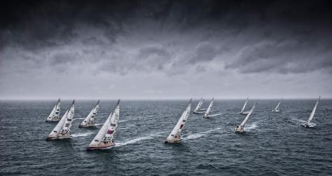 The Clipper 2017-18 Round the World Yacht Race fleet